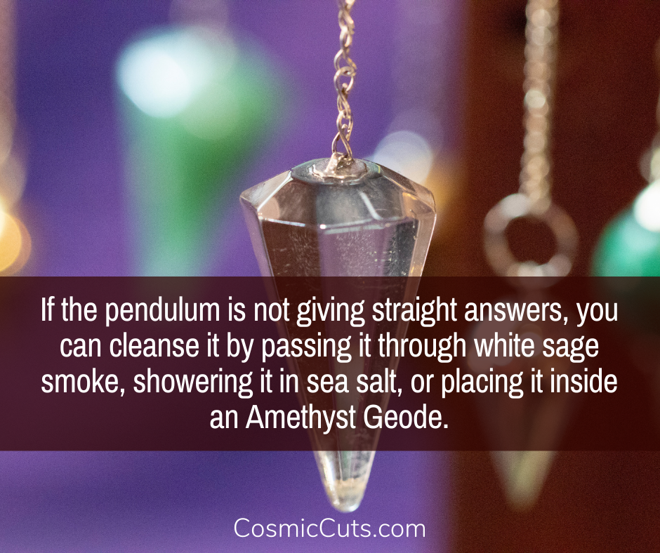 Cleansing Pendulums