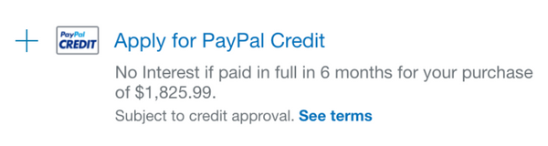 Comic Cuts PayPal Credit