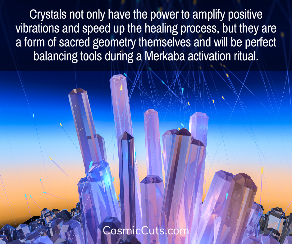 Crystals for merkaba activation