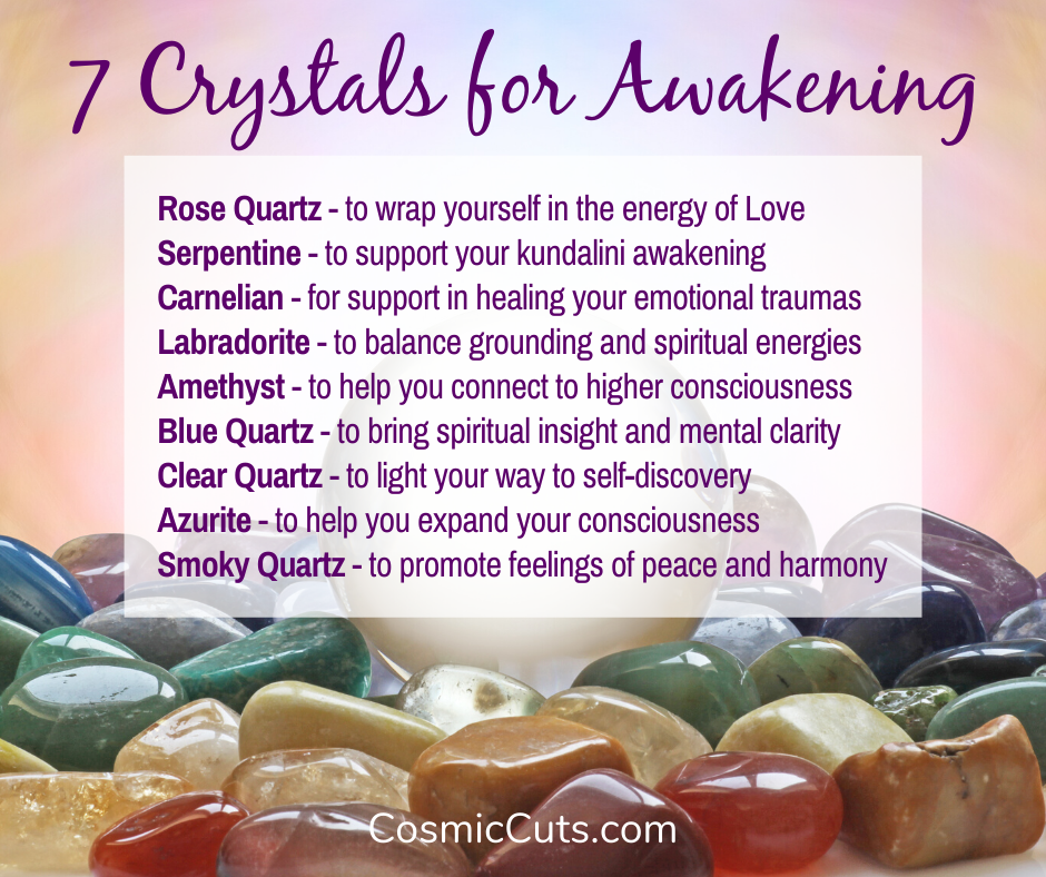 Infographic - 9 Crystals for Awakening