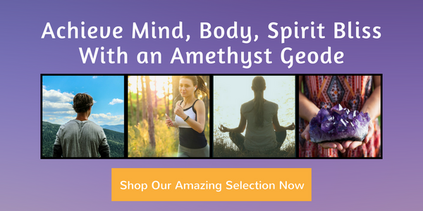 Amethyst Geode Mind Body Spirit