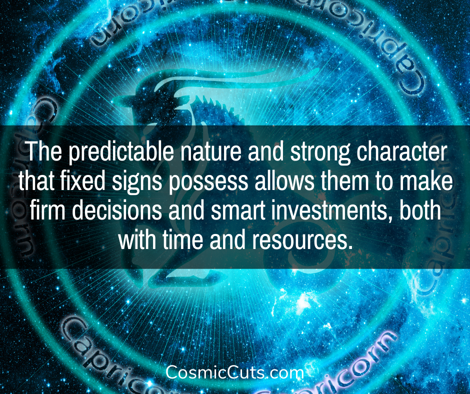 Predictable Fixed Signs