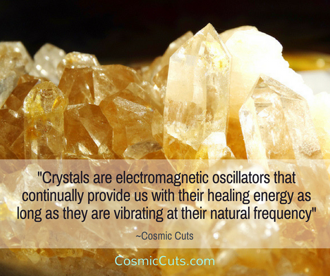 Crystals are Electromagnetic Oscillators