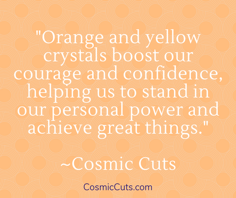 Orange Crystals for Confidence and Courage