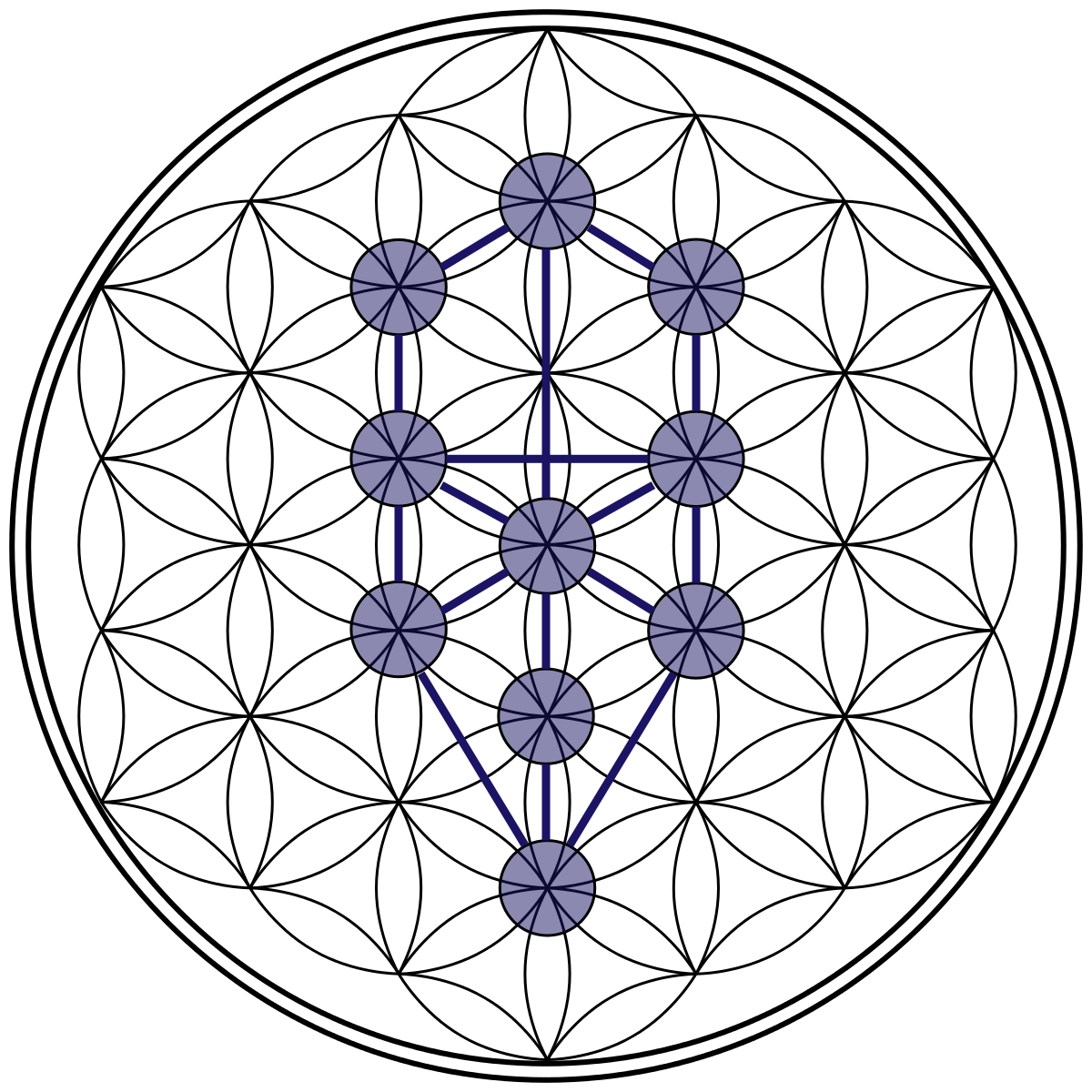 Tree of Life in Flower of Life