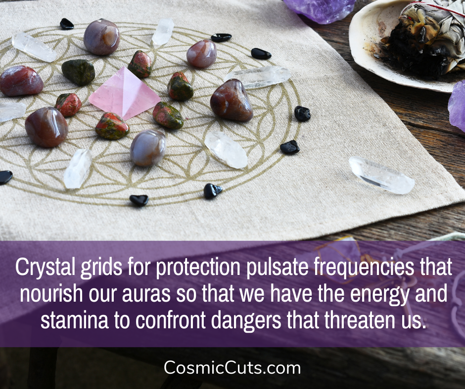 crystal grid layouts for protection