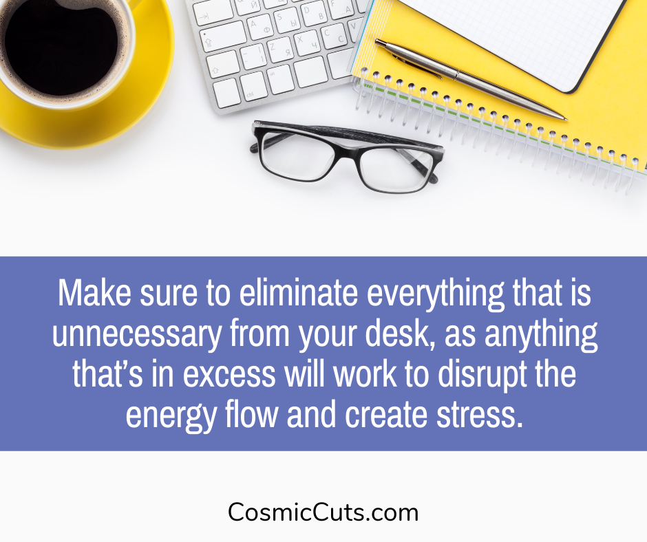 feng shui desk layout
