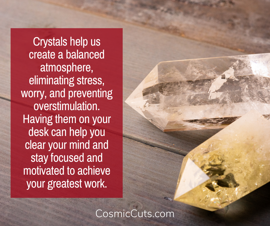 feng shui office decor crystals