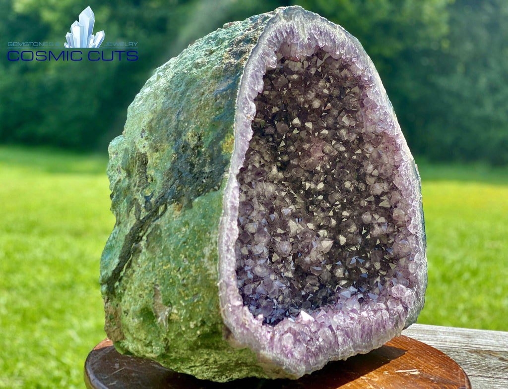 "Huge Amethyst Geode 19.50 ""HEALING LIGHT POOL"" High Quality Sink Display Specimen"