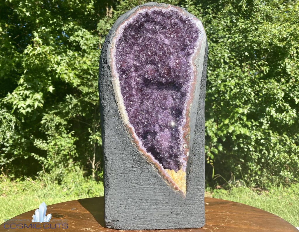 "Amethyst Geode ""SHIMMERY GLITTERY FIND"" 14.00 High Quality Ethereal Wonder NS-29"