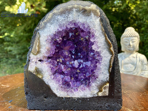"Amethyst Geode ""MOTHER NATURE'S BELLY BUTTON"" 5.50 High Quality Round Cathedral NS-178"