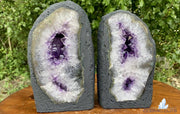 "Amethyst Geode ""MIRACLE TWINS"" 8.50 High Quality Cathedral Pair NS-53"