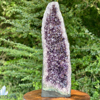 "Tall Amethyst Geode ""STRESS & ANXIETY DON'T STAND A CHANCE"" 25.00 High Quality Cathedral NS-47"