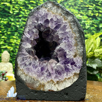 """RAINBOW BURRITO"" Amethyst Geode Cathedral 7.00 High Quality Brazil NS-323"