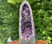 "High Quality Amethyst Geode ""CRYSTAL CASTLE OF WONDER"" 19.00 SUPER DARK PURPLE Cathedral NS-106"