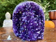 """PUMPKIN PERFECTION"" Amethyst Geode Cathedral 5.50 Uruguay High Quality NS-355"