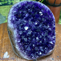 "Amethyst Geode ""PERFECT LUSTROUS BEAUTY"" 5.00 Uruguay MUSEUM QUALITY Self Standing NS-144"