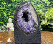"""ALIEN EGG"" High Quality Amethyst Geode 5.00 Cathedral Crystal Brazil NS-337"