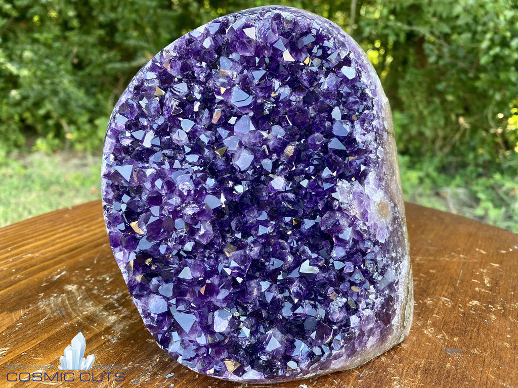 "Amethyst Geode ""PANCAKE OF GLORY"" SUPER High Quality Uruguay Self Standing NS-43"