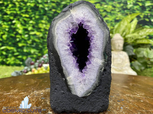 """LITTLE DOT"" Amethyst Geode Cathedral 4.00 Rainbow Prism High Quality NS-264"