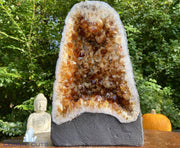 """MONUMENT OF MOTIVATION"" Citrine Geode 12.00 High Quality Cathedral Vibrant Coloration NS-363"