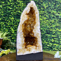 """ROCKETSHIP"" Citrine Geode 17.00 High Quality Cathedral Brazil NS-382"