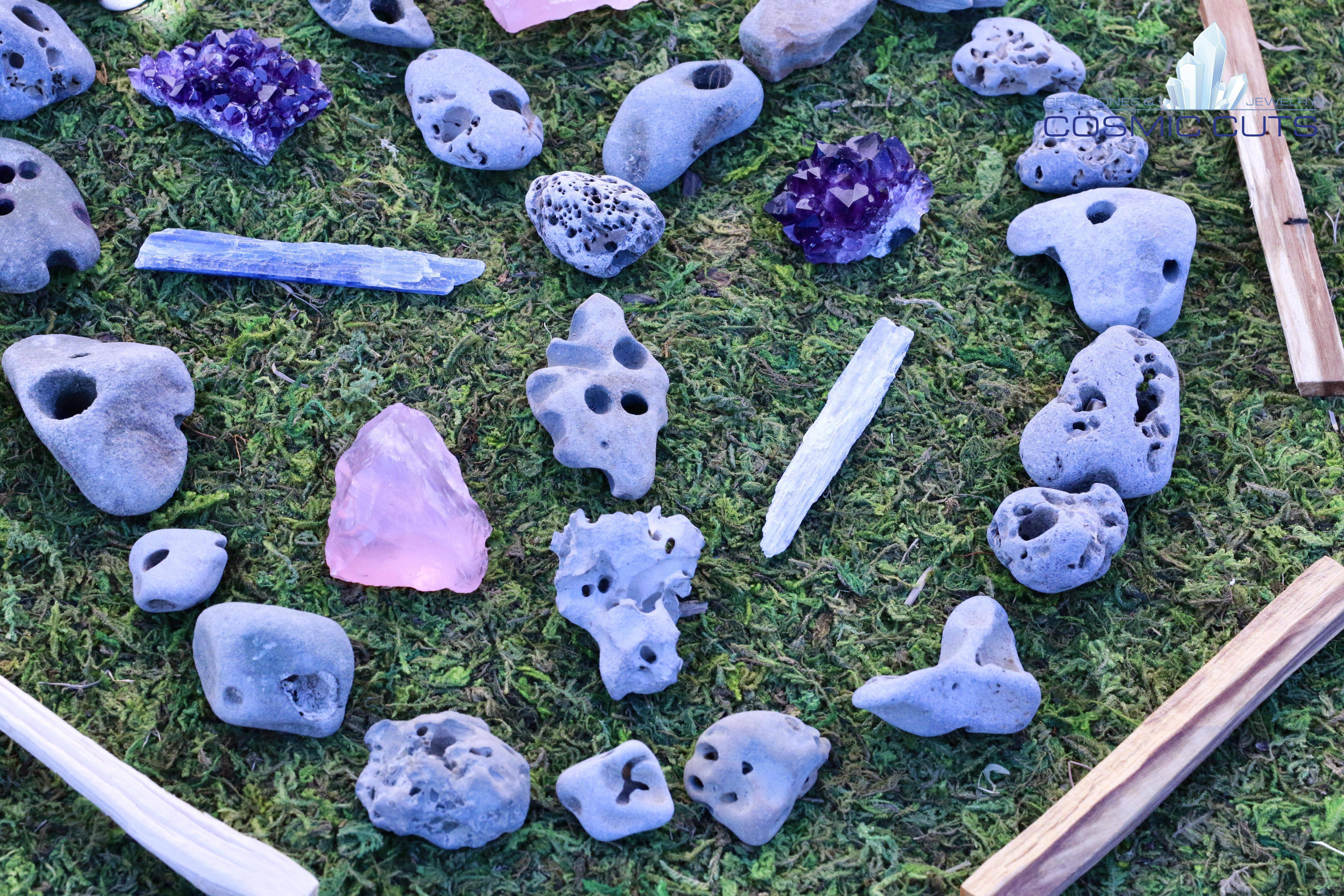 Natural Hag Stone Fairy Stone Holey Stone Cosmic Cuts C A stone with a natural hole through it. cosmic cuts