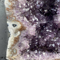 "Feng Shui Amethyst Geode ""COFFEE & CRYSTALS"" 8.00 Agate Rim Crystal Cluster NS-115"