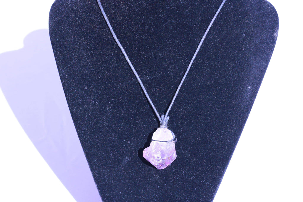 Amethyst Geode Chakra Natural Stone Jewelry Necklace JJ-2