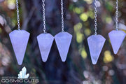 Rose Quartz Jewelry Healing Natural Stone Chakra Pendulum JJ-5