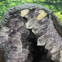 "Amethyst Geode Crystal ""SURPRISES GALORE"" 10.00 High Quality Orange Calcite Cathedral NS-124"