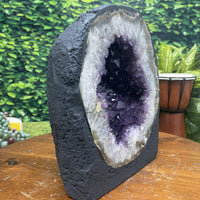 "Amethyst Geode Crystal ""PERFECT HEALING CRATER"" 9.00 High Quality Round Cathedral NS-125"