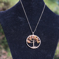 Tigers Eye Tree of Life Necklace