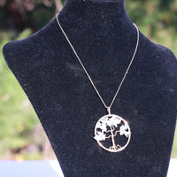 Clear Quartz Tree of Life Necklace for Sale