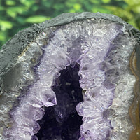 "Amethyst Geode ""I LIKE SHINY THINGS"" 6.00 High Quality Rainbow Prisms Cathedral NS-129"
