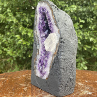 "Amethyst Geode ""BUDDHA ROCK IT"" 7.50 High Quality Cathedral w Calcite NS-60"