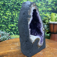"Amethyst Geode ""FLOWER GARDEN"" 9.00 Brazil High Quality Cathedral NS-133"