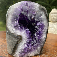 "Amethyst Geode ""ORB OF MYSTERY"" 4.00 High Quality Self Standing NS-154"