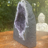 "Brazil Amethyst Geode ""PURPLE PUMPKIN"" 5.75 High Quality Cathedral NS-171"