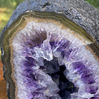 "Amethyst Geode ""GRAPE JELLY"" 7.00 High Quality Dark Purple Cathedral NS-179"