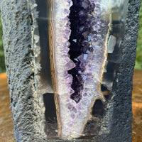 "Tall Amethyst Geode ""MOTHER NATURE'S PENCIL"" 8.00 High Quality Rare Thick Agate NS-180"