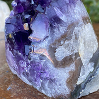 "Amethyst Geode w Calcite ""CHUNK OF ENLIGHTENMENT"" 3.00 Uruguay Self Standing NS-195"