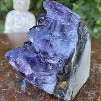 "Dark Purple Amethyst Geode ""CROWN OF HEALING LIGHT"" 3.00 High Quality Uruguay NS-199"