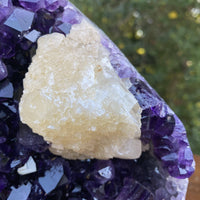 """SELF CARE SELF LOVE"" High Quality Amethyst Geode Calcite 6.00 Uruguay Crystal NS-235"