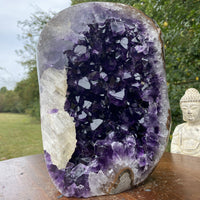 """CROWN CHAKRA PORTAL"" Huge Amethyst Geode 10.00 Uruguay Self Standing High Quality NS-250"