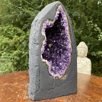 """STARLIGHT"" Deep Amethyst Geode Cathedral 8.00 High Quality Agate Rim NS-259"