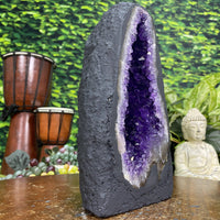 """GOTTA BE GRATEFUL"" High Quality Amethyst Geode 9.00 Lustrous Cathedral NS-261"