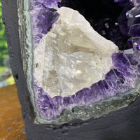 """WANNA SEE A BEAUTY?"" Dark Purple Amethyst Geode Cathedral 8.00 High Quality Rare Agate Rim NS-263"