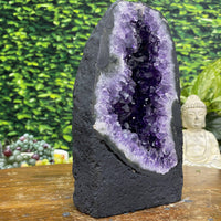"""THE GRAPE"" Amethyst Geode 7.00 High Quality Dark Purple Cathedral NS-268"