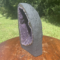 "Amethyst Geode ""EASY BREEZY BABY"" 9.50 Agate Rim High Quality Cathedral NS-26"